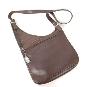 Coach Leather Satchel cross body bag Brown vintage